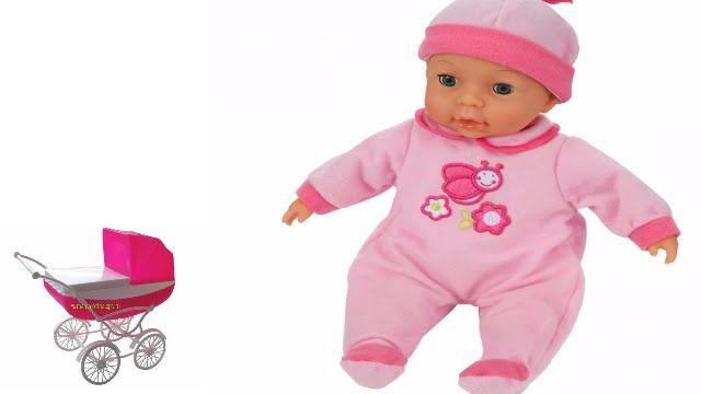 Беби Бон самый большой катается с куклой Барби в коляске|The biggest Baby Born rides a Barbie