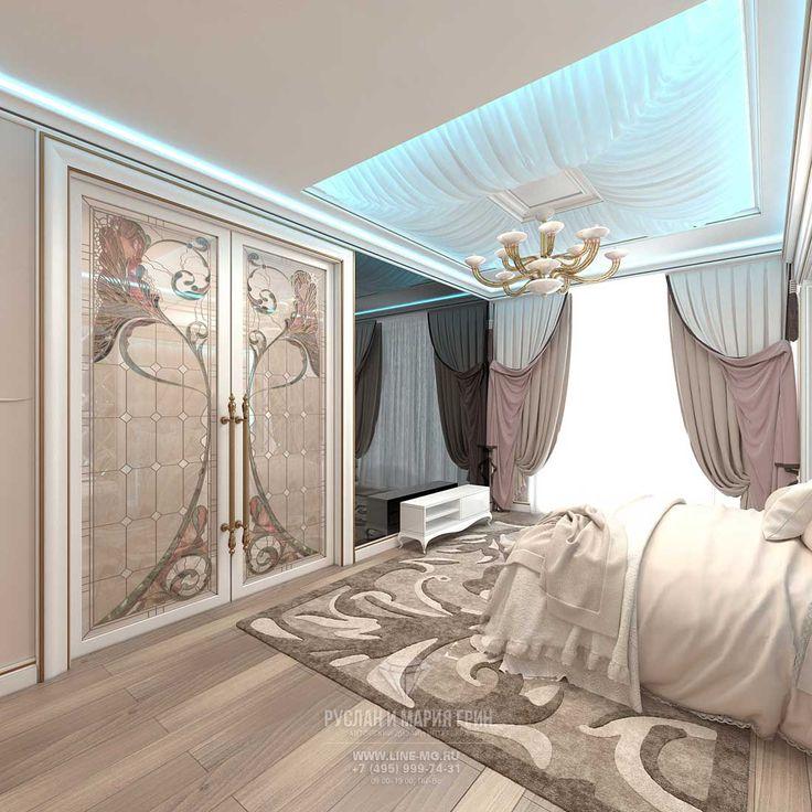 Дизайн спальни в бежевых тонах. Квартира в ЖК «Сколково Парк» http://www.line-mg.ru/dizayn-kvartiry-zhiloy-kompleks-skolkovo-park