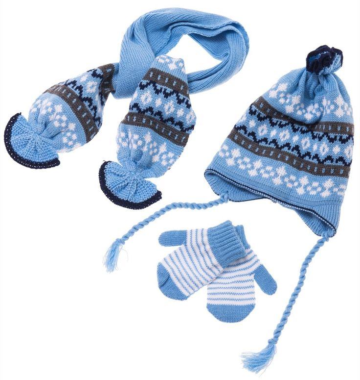 ΑΖ πλεκτό σετ σκουφί-κασκόλ-γάντια «Snowman» Κωδικός: 17797  €8,90