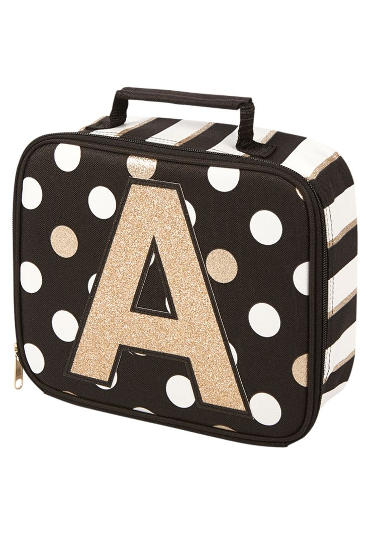 Initial Polka Dot Lunch Tote
