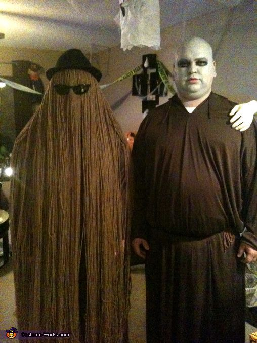 Cousin Itt and Uncle Fester - 2013 Halloween Costume Contest