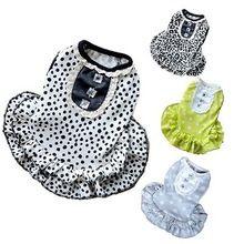 Мягкий хлопок точки леопарда собаки летом кошка юбка платья для маленьких собак 4 цветов XS L(China (Mainland))