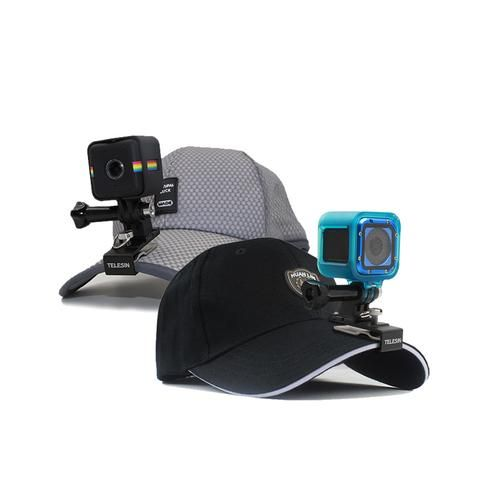 TELESIN 360 Degree Rotary Backpack Cap Clip for GoPro Hero 5 Session Hero 4 Session Accessories