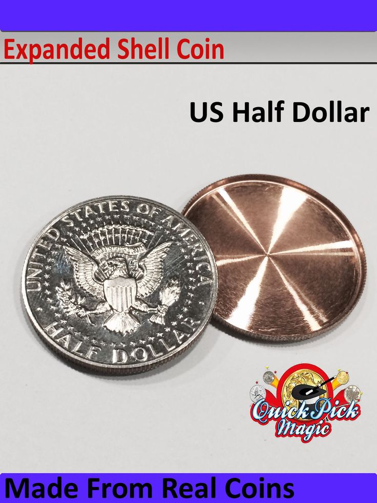 Us half #dollar #expanded coin #shell / 50 cent #expanded #shell made from real coi,  View more on the LINK: 	http://www.zeppy.io/product/gb/2/182136389422/