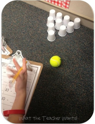 subtraction bowling!