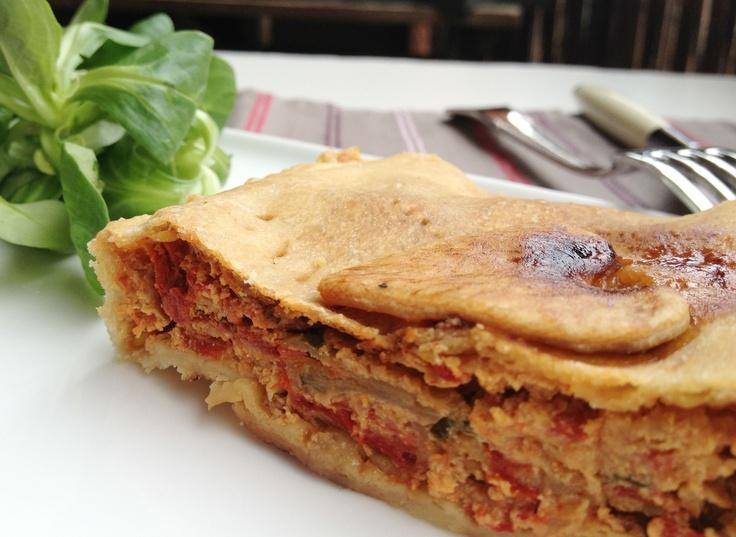 Tourte poivrons, ricotta et basilic - Red Pepper, Ricotta and Basil Pie