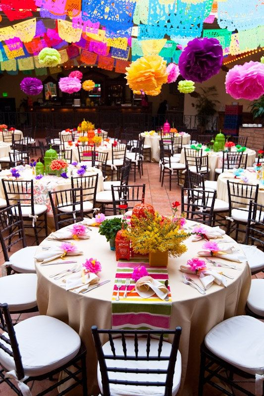 Wedding Banner (3 Pack) VARIETY Papel Picado Fiesta Wedding Flags - Mexican Hand Cut Tissue Paper Flags
