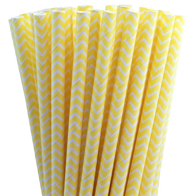 Greenmunch - Paper Straws - Yellow Chevron, $4.50 (http://www.greenmunch.ca/paper-straws/standard-length/chevron/paper-straws-yellow-chevron/)