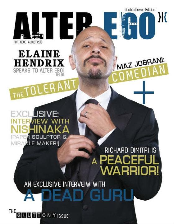 ALTER EGO MAGAZINE 2010  GLUTTONY ISSUE (RAMADAN)  COVER STAR: MAZ JOBRANI