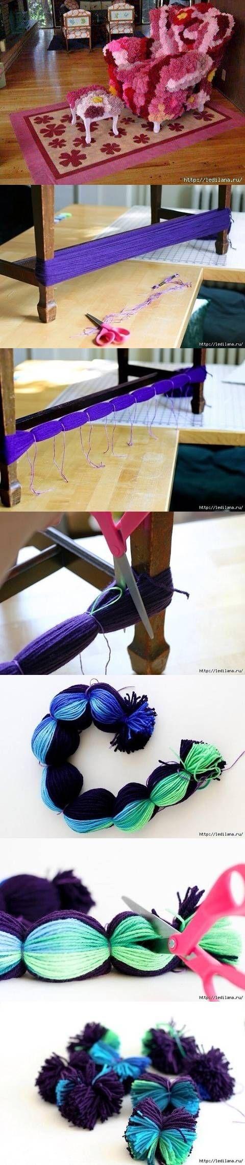DIY Multiple Pom Poms at Once DIY Projects | UsefulDIY.com Follow Us on Facebook ==> http://www.facebook.com/UsefulDiy