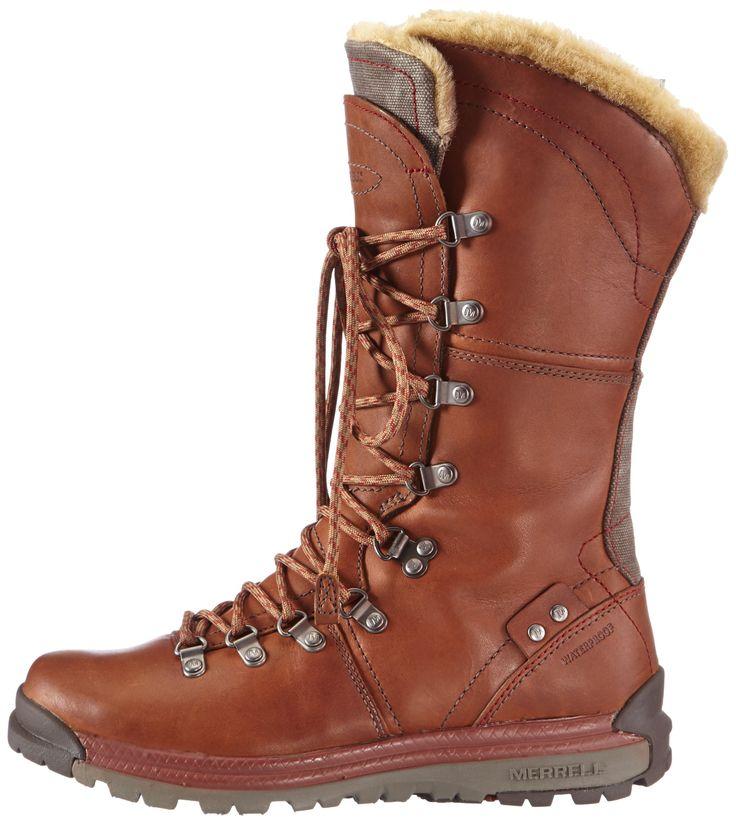 MERRELL Natalya Waterproof Ladies Hiking Boots, Brown, US8.5