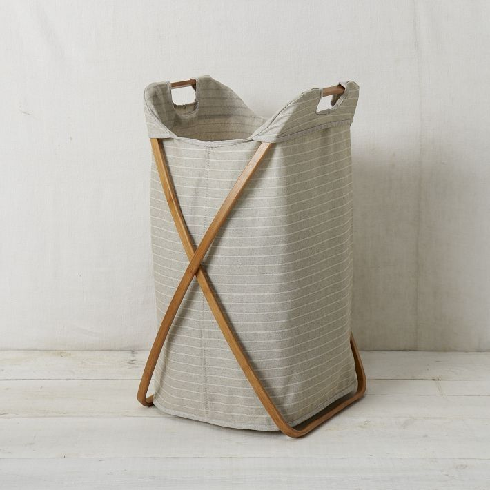 Bamboo Laundry Hamper, Single - contemporary - hampers - West Elm