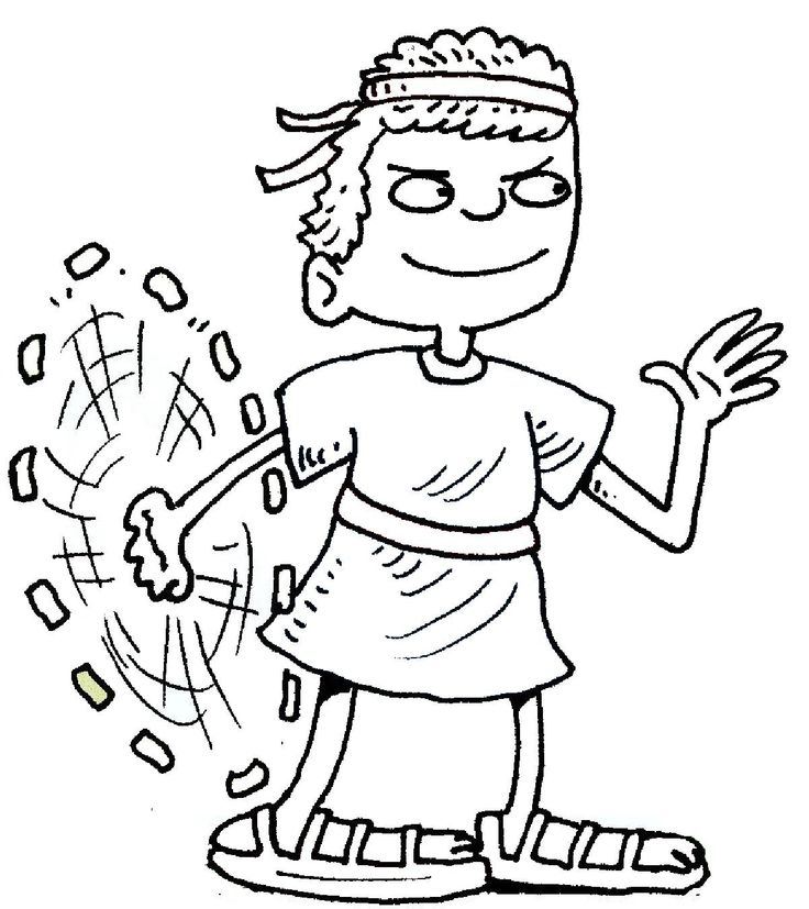 Free Colouring Pages David And Goliath Kids Coloring Home