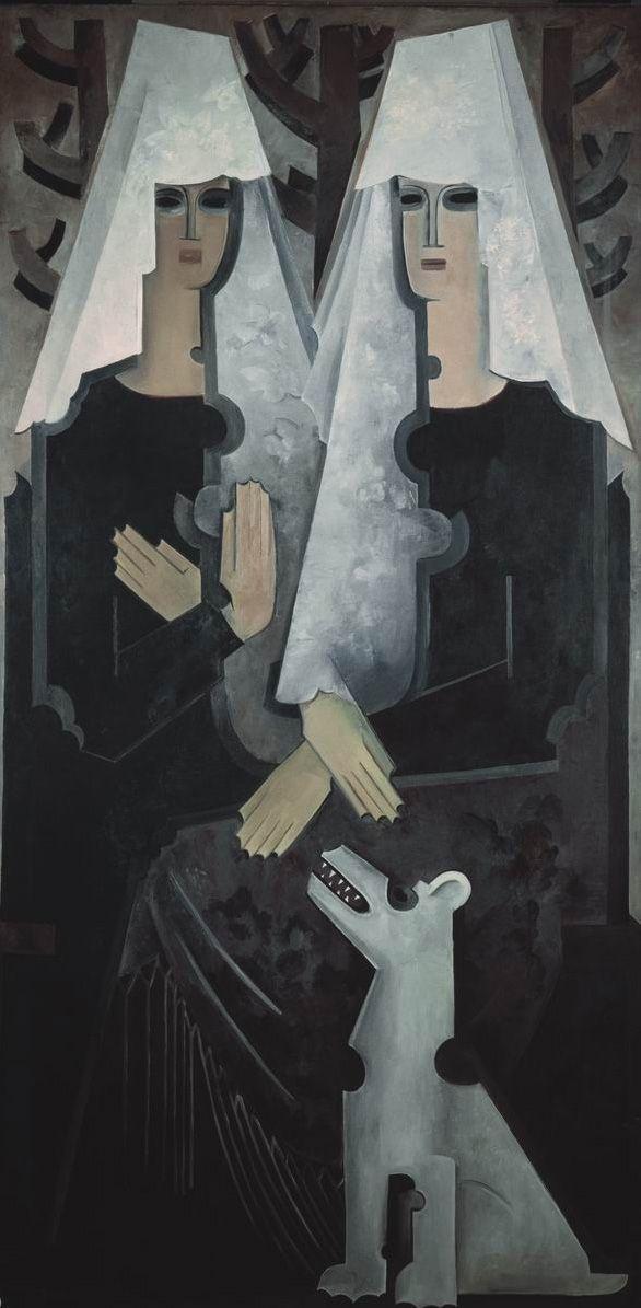 Н. Гончарова. Две испанки. 1920-е. ГТГ