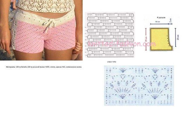 Как связать шорты на спицах для девочки