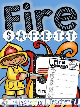 Fire Safety - Discover objects that are related to fire safety using these adorable fire fighter themed posters and corresponding writing activity.   There are 12 Fire Safety related word posters in this download. They include the following words:  -fire -hydrant -fire truck -fire fighter -hose -dog -hat -boots -shield -crawl -water -alarm  Hang these up during your fire safety themed unit or just throughout the month of September (fire safety month) in general.