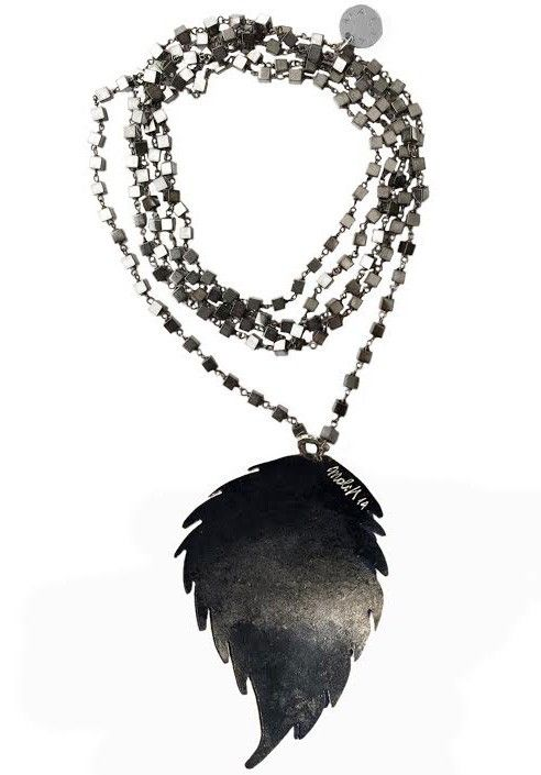 Necklace black pyrite  MADE IN ITALY  Shop now on www.dezzy.it