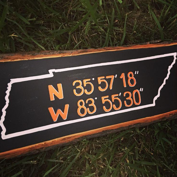 Neyland Stadium University of Tennessee Coordinates/ Woodslice/ Chalkboard Sign by MyFourBears on Etsy https://www.etsy.com/listing/467572788/neyland-stadium-university-of-tennessee