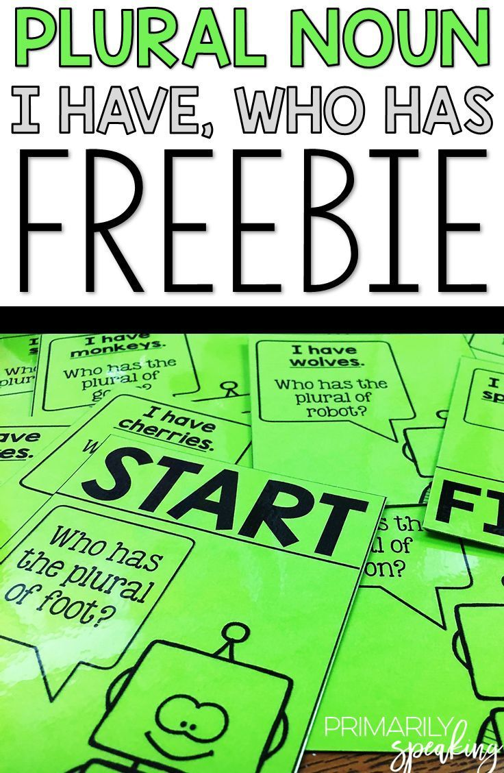 I Have, Who Has is a great way to practice and review skills! This plural noun FREEBIE is sure to be a hit with students as they practice identifying regular and irregular plural nouns.