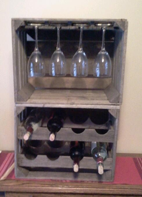 17 best ideas about apple crates on pinterest dog food for Crate wine rack diy