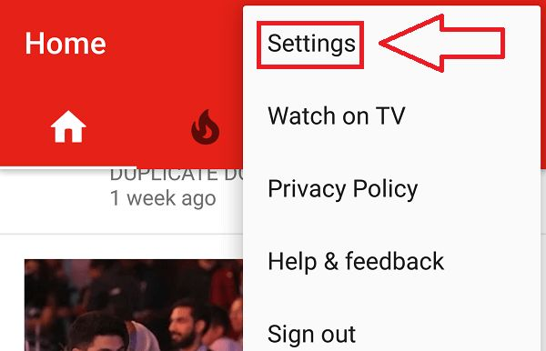how to delete the search history in youtube