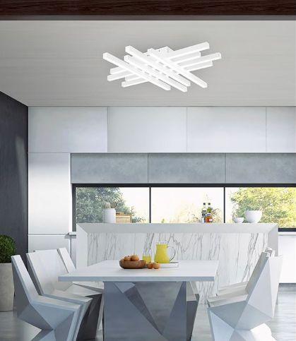 Kourtakis Lighting - Φωτιστικό οροφής #μοντερνο LED από αλουμίνιο σε λευκό χρώμα. Επιλέξτε το και αφήστε το να φωτίσει το χώρο σας με το δυνατό θερμό λευκό φως του. Είναι #LED που σημαίνει ότι σας προσφέρει και οικονομία στην κατανάλωση ενέργειας. Διατίθεται σε δύο διαστάσεις. Βρείτε το: http://kourtakis-lighting.gr/fotistika-orofis-indoor-fotistika-krebatokamaras-fotistika-saloniou-diakosmisi/3564-led-fotistiko-orofis-132watt-alouminio-akryliko-grata-6263802.html