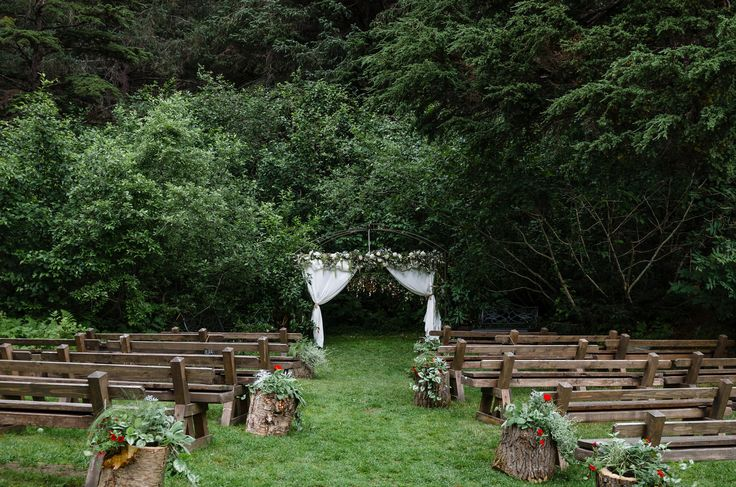 Alaskan outdoor wedding.  Alaskan  fairytale wedding at the Crow Creek Mine in Girdwood, Alaska.  Alaska wedding planner - Blomma Designs  #alaskawedding  Photo