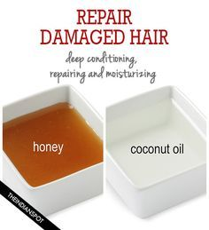 Coconut oil and honey hair mask for repairing and moisturizing damaged hair - two powerful ingredients for faster, thicker and longer hair growth. Guys, you gotta try this mask!