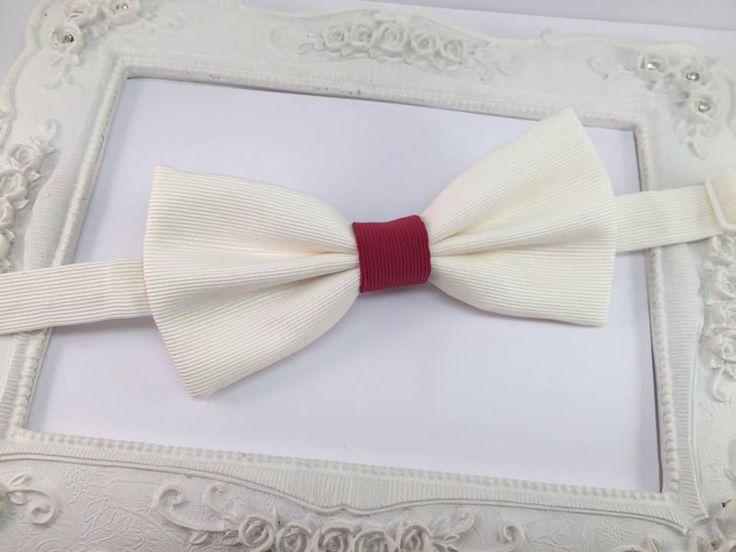 Elegant Noeud Papillon Ivoire et Grenat - Bordeaux Homme : Cravates par fleurs-de-provence