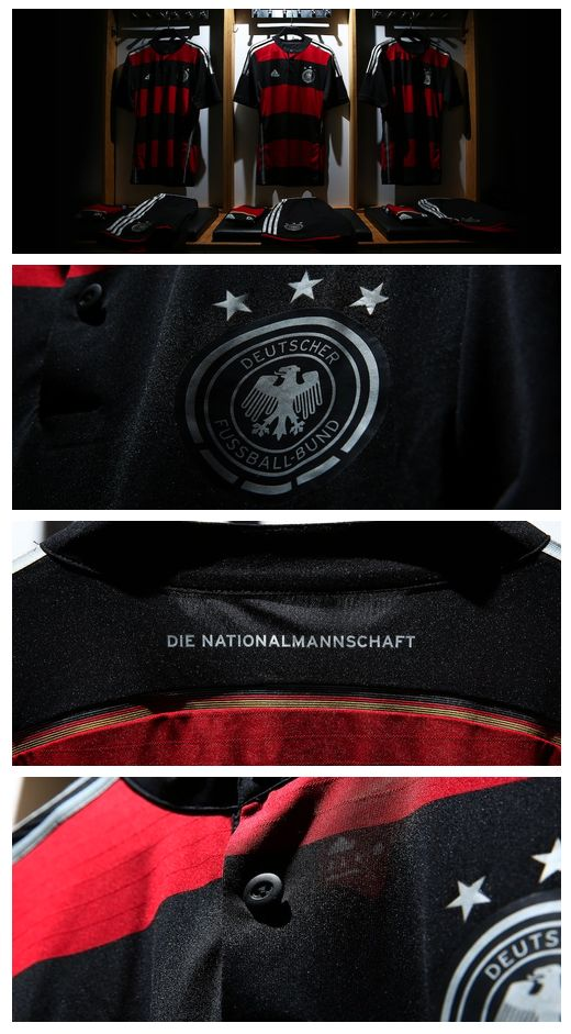 """Germany's 2014 adidas away jersey """"stands for team spirit and integration on the pitch."""""""