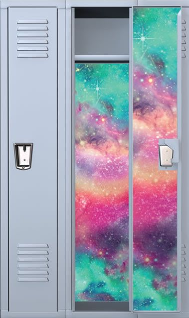 Colored Galaxy Full Length Vinyl Magnetic School Locker Wallpaper Set - Custom in Home & Garden, Home Décor, Decals, Stickers & Vinyl Art   eBay