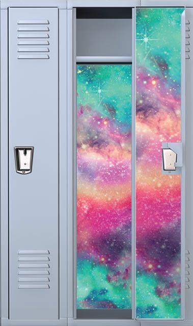 Colored Galaxy Magnetic School Locker Wallpaper Set #StickIt2Me