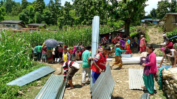 In Nepal: Metal sheeting, safer construction | Mennonite Central Committee U.S.