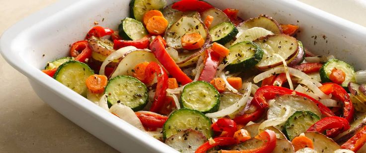 Delete the red potatoes for low carb. Simple seasonings are all you need to flavor colorful roasted vegetables.