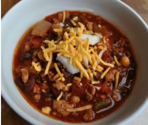 Easy, Healthy Dinner: Crock-Pot Turkey Chili by ToptoBottom