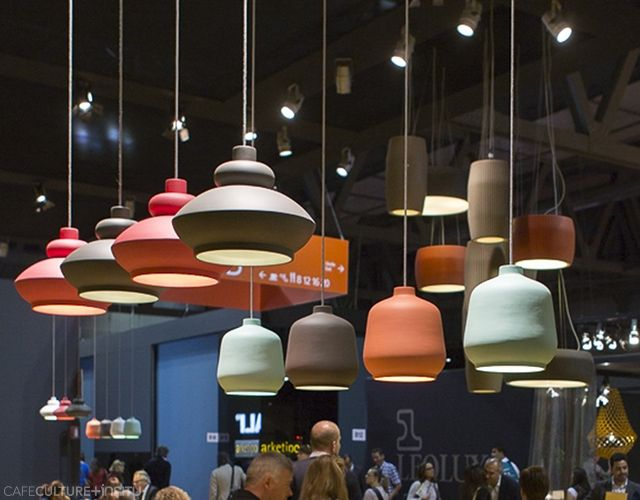 Exciting new lighting and furniture was launched by Miniforms at the Salone del Mobile Milan 2015, which was created in collaboration with international designers. Products: Kiki, Tora, Gear suspension lamps