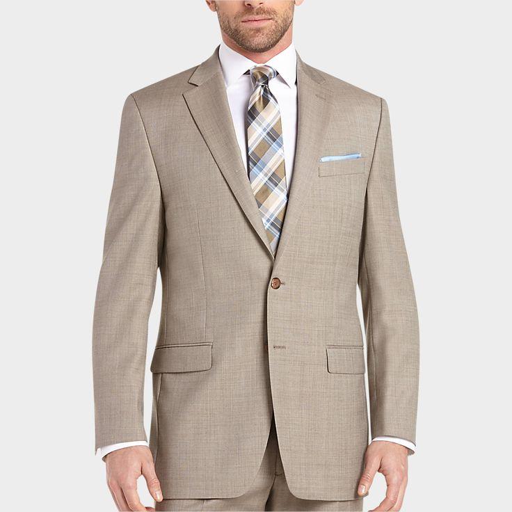 Lauren by Ralph Lauren Tan Sharkskin Classic Fit Suit - Classic Fit   Men's Wearhouse