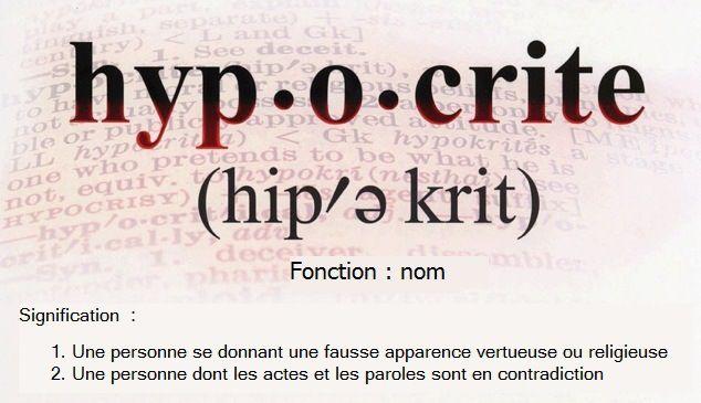 personne hypocrite definition dessin