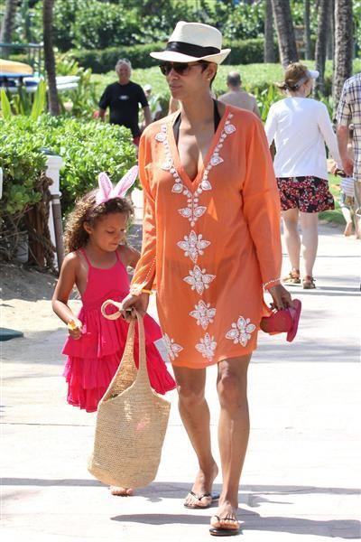 Halle Berry and daughter Nahla Aubrey