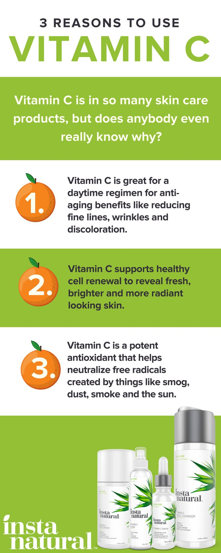 Vitamin C is a key ingredient in some of InstaNatural products. Here's what it can do for you and why you should be using it.