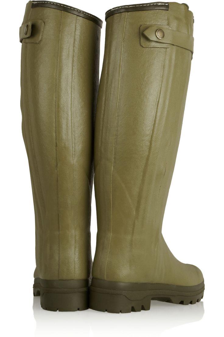 Le Chameau | Chasseur shearling-lined rubber rain boots | NET-A-PORTER.COM