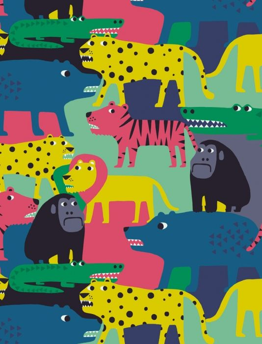 All Over Interlocking Animal Design by See Creatures Copyright See Creatures Design 2015