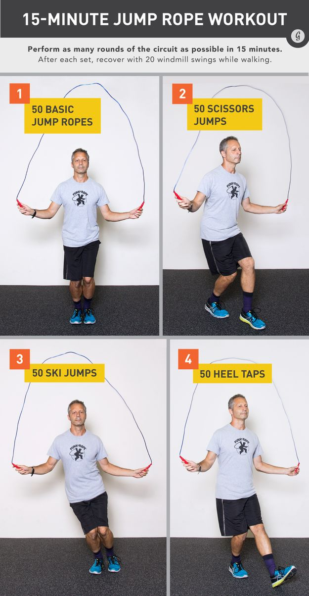 How to bust out the jump rope for a hoppin' workout. | 19 Cheat Sheets To Help You Work Out Like A Pro