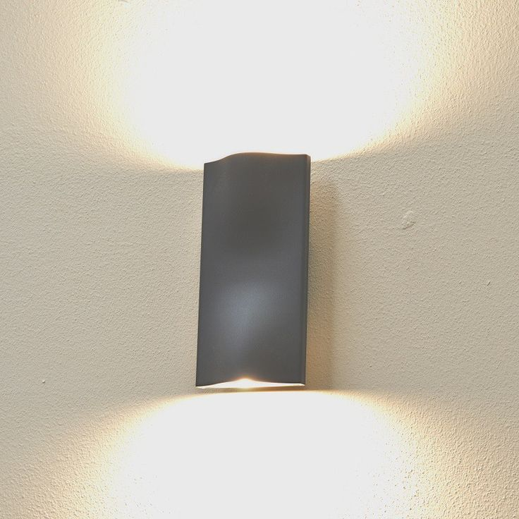 Cyclone up down outdoor wall light graphite warm white led