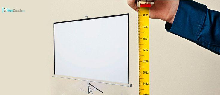 Diagonal de 100 pulgadas en un telón de video beam
