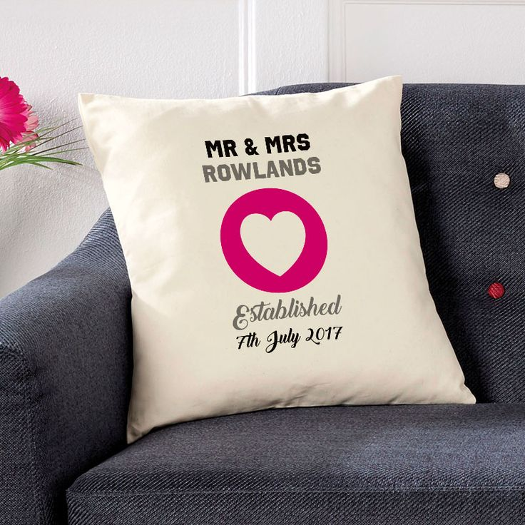 Personalised wedding cushion.Beautiful 💕 Personalised Word Cushions & Pillows. Easy to Create & Preview On Screen Before You Buy. Fast Free Delivery. A perfect gift for any occasion. www.chatterboxwalls.co.uk  #wordart #typography #personalisedcushions #cushions #interiordesign