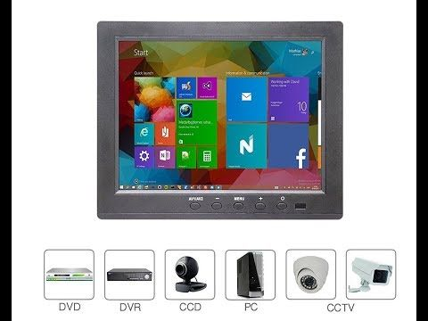 Wholev 8 inch 1024×768 LCD CCTV Monitor with Speaker – Desktop Reviews