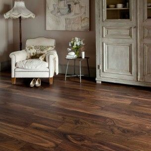 Darkwood Floors Series Woods 10mm American Black Walnut V Groove Laminate Flooring