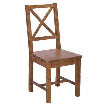 Homespun Cross Back Wooden Dining Chair