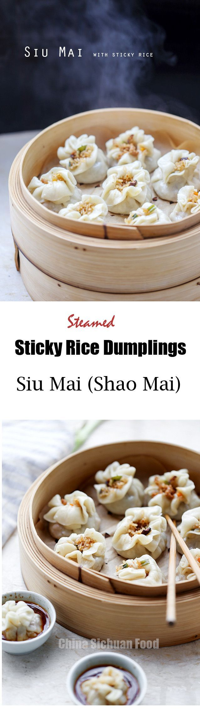 Siu Mai Recipe (Shao Mai) with Sticky Rice #Siu  Mai #sticky #rice | ChinaSichuanFood.com